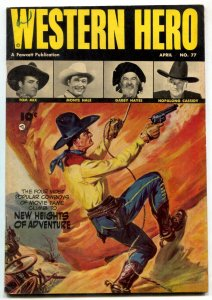 Western Hero #77 1948- Tom Mix cover by Norman Saunders- Hopalong Cassidy