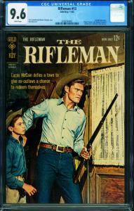 Rifleman #13 CGC 9.6 Chuck Connors 1962 Gold Key-2006594001