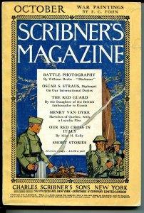 Scribner's Magazine 10/1918-WWI-pulp format & size-FC Yohn-historic ads-VG