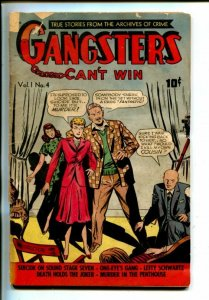 GANGSTERS CAN'T WIN #4-PRE-CODE CRIME-POKER-BOXING-POKER-fr