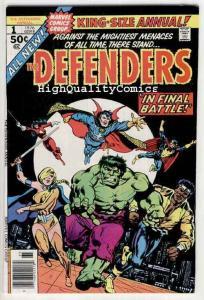 DEFENDERS #1 Annual, VF+, Hulk, Dr Strange, Valkyrie, Luke Cage, Powerman, 1976