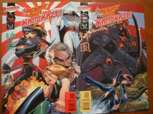2 Mint Cliffhanger Comic:DANGER GIRL KAMIKAZE #1 2 (2001) Complete Set