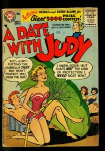 Date with Judy #54 1956- swimsuit cover- DC  Humor- G/VG