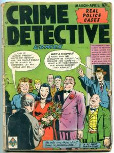 Crime Detective #7 1949- Golden Age comic- Wedding cover G/VG