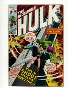 Incredible Hulk # 142 VG/FN Marvel Comic Book Iron Man Captain America Thor BJ1