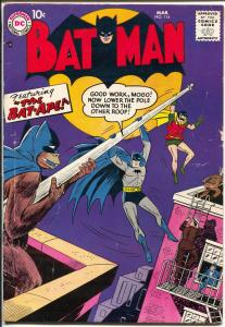 Batman #114 1958-DC-Bat-ape appears-full page ad for Lois Lane #1-VG