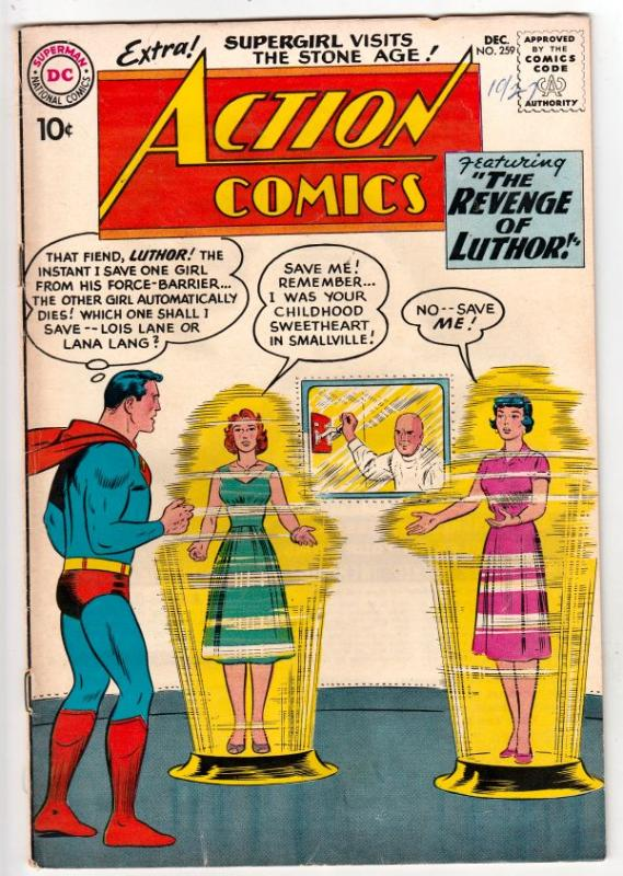 Action Comics #259 (Dec-59) VF+ High-Grade Superman
