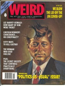 Weird #1 1997-1st issue-JFK cover up-Castro-J Edgar Hoover-Gray Morrow-VF