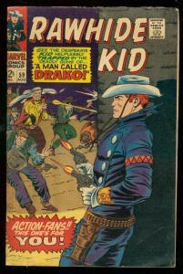 RAWHIDE KID #59 1967-MAN CALLED DRAKO-MARVEL WESTERN- VG/FN