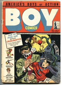 Boy Comics #6 1942-First IRON JAW cover-HITLER appears