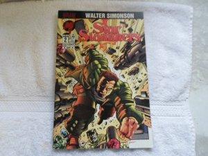 1994 malibu comics STAR SLAMMERS # 2 ( FRONT COVER TORE )