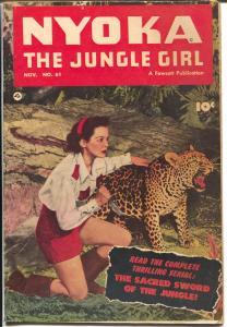 Nyoka The Jungle Girl #61 1951-Fawcett-photo cover-jungle stories-VG-