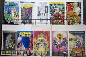 Marvel Ashcan Library - 10 diff - X-Men Spider-Man Fantastic Four Midnight Sons