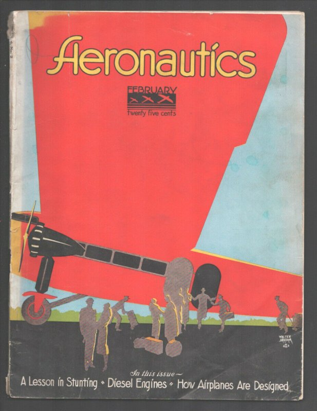Aeronautics 2/1930-Walter Graham art-Lesson In Stunting-how airplanes are des...