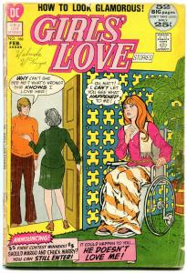 Girls' Love Stories #166 1972- Wheelchair cover- DC Romance G-