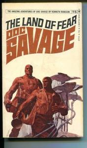 DOC SAVAGE-THE LAND OF FEAR-#75-ROBESON-G-FRED PFEIFFER COVER-1ST EDTION G