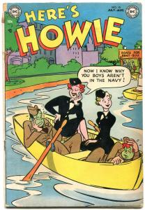 Here's Howie #10 1953- DC Golden Age Humor- Winnie the WAC G/VG