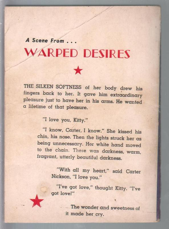 Croydon Books #92 1955-Warped Desires-Gordon Semple-pulp thrills-G/VG
