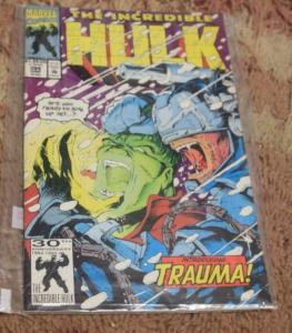 incredible hulk  # 394 1992 marvel   i1st app trauma MARVEL AVENGER