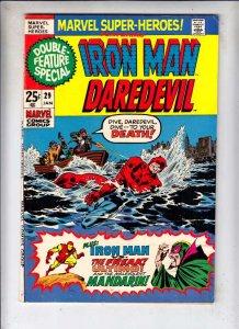 Marvel Super-Heroes #29 (Jan-71) VF High-Grade Daredevil, Iron Man