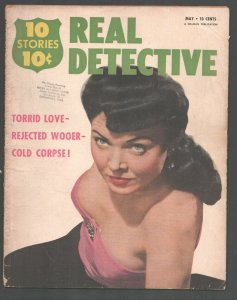 Real Detective 5/1951-Lusty lady cover-love trap-Crime-mystery-terror-exploit...