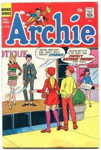 Archie #179 1968-MOD FASHION cover VG