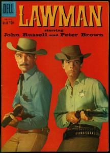 Lawman- Four Color Comics #970 1958- Western Photo cover FN/VF