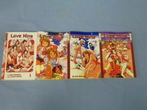 Lova Hina Ken Akamatsu Book Lot - Manga Issues #4-6 with Love Hina the Novel SEE