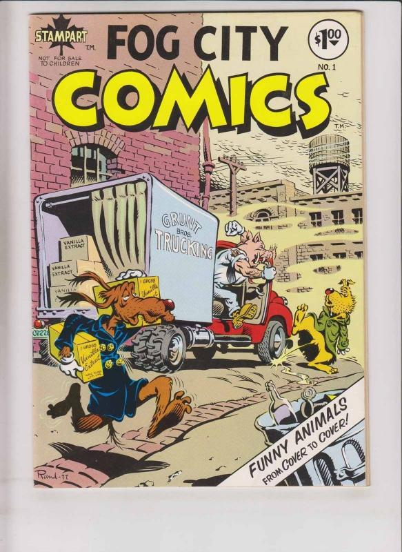 Fog City Comics #1 VF- (1st) metzger RAND HOLMES underground funny animals