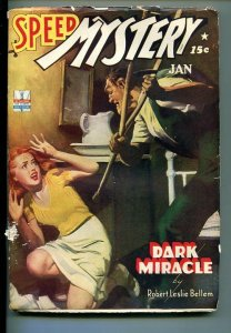 SPEED MYSTERY-#1-JAN 1943-PULP FICTION-SOUTHERN STATES PEDIGREE-fn
