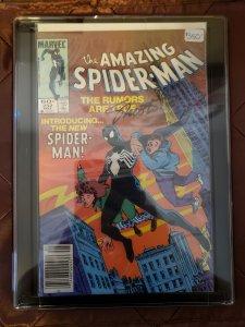 THE AMAZING SPIDER-MAN #252 - 1st Black Suit - Jim Shooter autograph