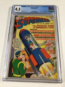Superman 146 Cgc 4.5 Dc Silver Age Origin Life Story Kal-el