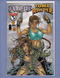 Witchblade/Tomb Raider #1/2 NM- Dynamic Forces Variant w COA #1040/7500 Top Cow
