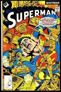 SUPERMAN #321-DYNAMITE COVER!-VERY POWERFUL!! WHITMAN VG