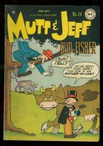 MUTT & JEFF #34 1948-DC COMICS-BUD FISHER ART-FUNNY GAG FN