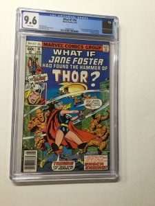 What If 10 Cgc 9.6 White Pages 1st Jane Fost As Thor Marvel Bronze Age