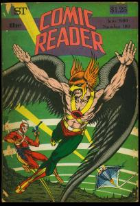 Comic Reader #180 1980- Fanzine- Hawkman & Adam Strange cover G