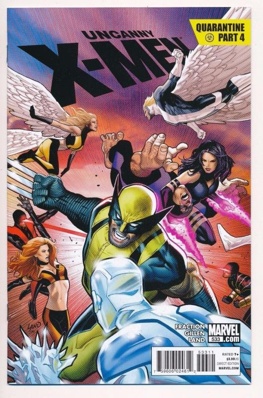 The UNCANNY X-MEN #533, Quarantine Part 4, Marvel Comics ~ NM (HX134)