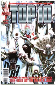 TOP TEN #1 2 3 4, NM+,  Alan Moore, Alex Ross, Police force, 2000, 4 issues