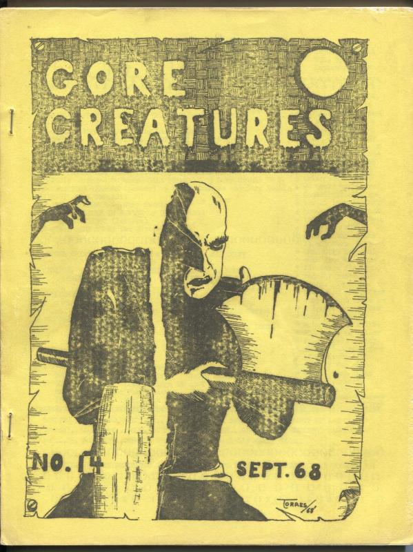 Gore Creatures #14 1968-early horror movie fanzine-Hammer Films-G/VG