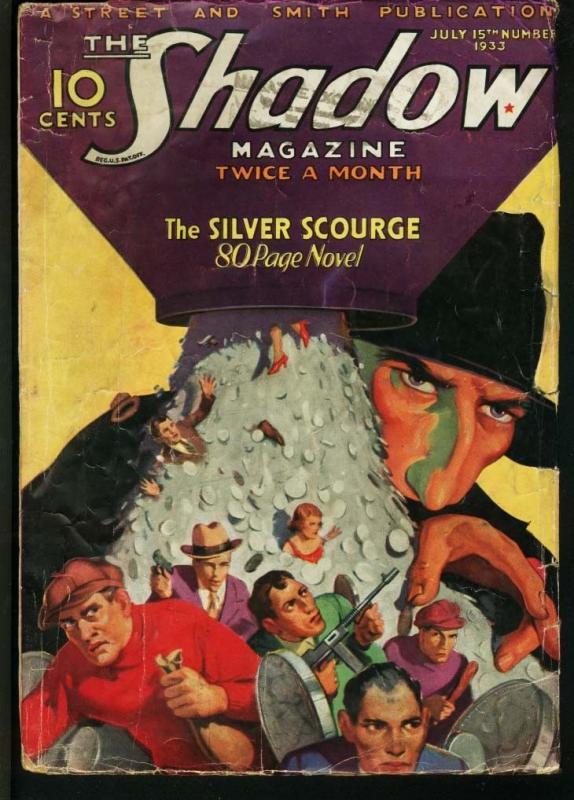 SHADOW 1933 JAN 15-STREET AND SMITH-RARE PULP VG