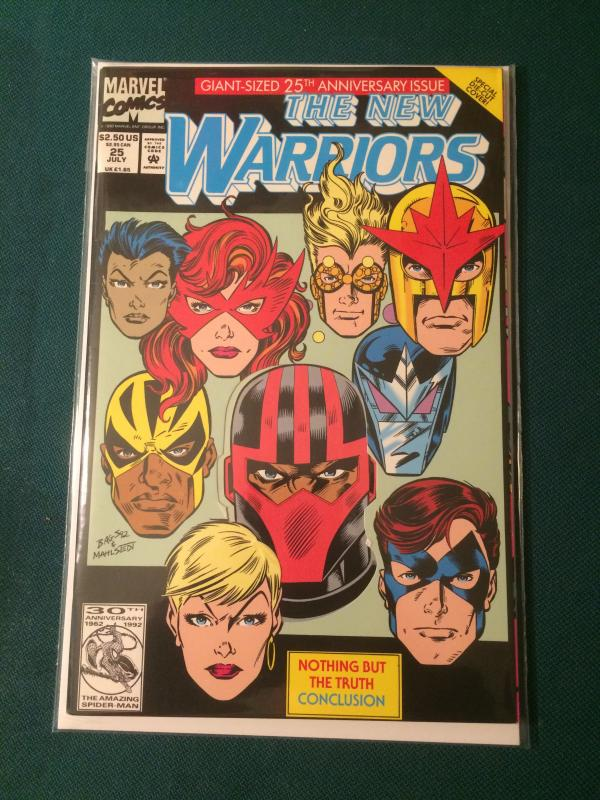 The New Warriors #25 Anniversary Issue Die-Cut cover