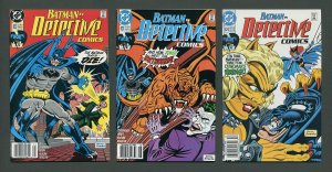 Detective Comics #622  #623  #624 (SET) /  VFN - NM  Newsstand  1990