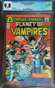 Planet of Vampires 3 CGC 9.8 Jack of Hearts Atlas 1975