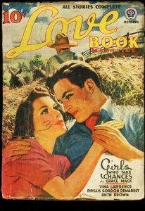 LOVE BOOK MAGAZINE OCT 1940 HAY RIDE ROMANCE HOT PULP FR/G