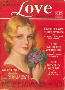 Illustrated Love Magazine 3/1931-Tower-Jules Erbit GGA cover-Albert Payson Te...