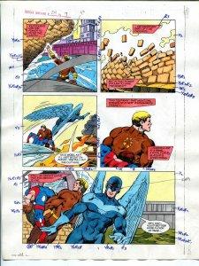 Justice Machine #24 Page #7 1988 Original Color Guide