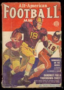 ALL-AMERICAN FOOTBALL FALL 1953-GEORGE GROSS-L RAVIELLI G/VG