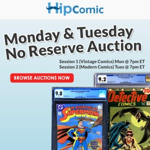 The 190th HipComic No Reserve Auction Event