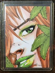 Adam Fields Original Art Card Poison Ivy